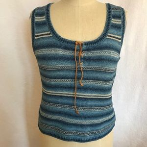 Lauren Ralph Lauren Sm melange knit tank sweater
